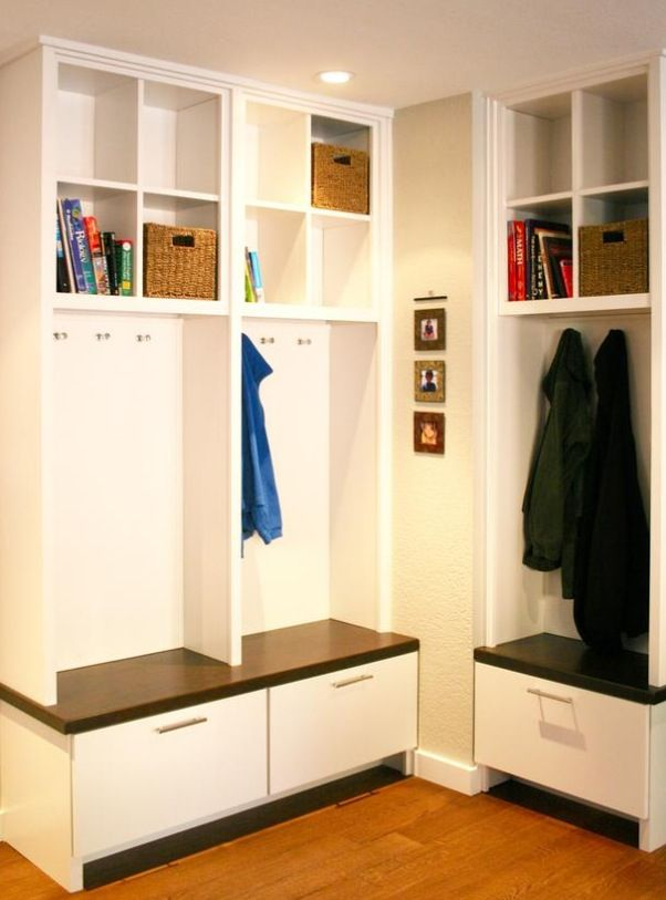 mudroom - I like the big drawers below