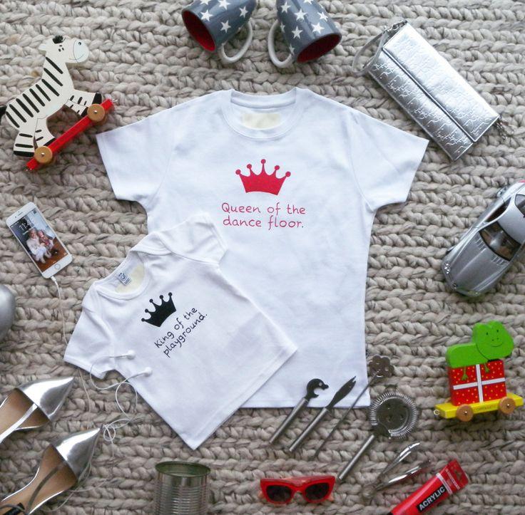 T-shirt für Mutter und Baby 2 Teile / Queen of the dance floor/ playground von HenrietaDuffner auf Etsy
