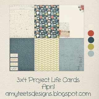 Amy Teets Designs: April Free Project Life Cards Digital and Printable