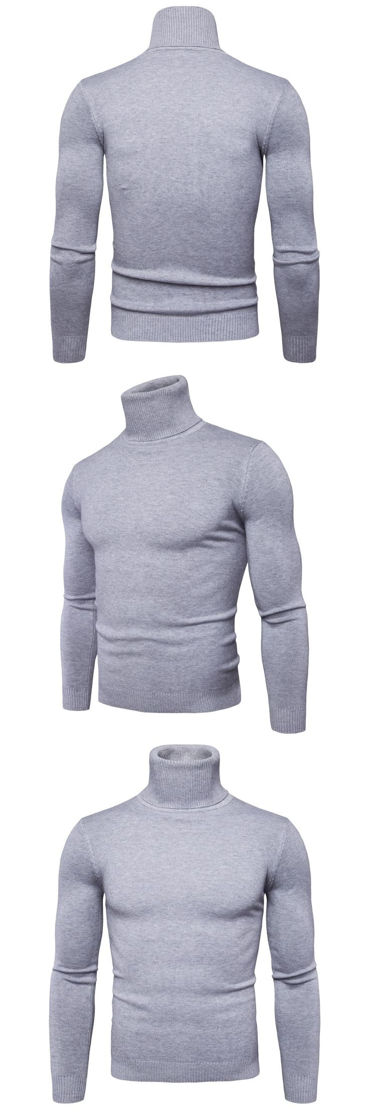 2017 New Autumn Winter Brand Sweater Men's Turtleneck Slim Pullover Solid Color Knitted Sweater Y959