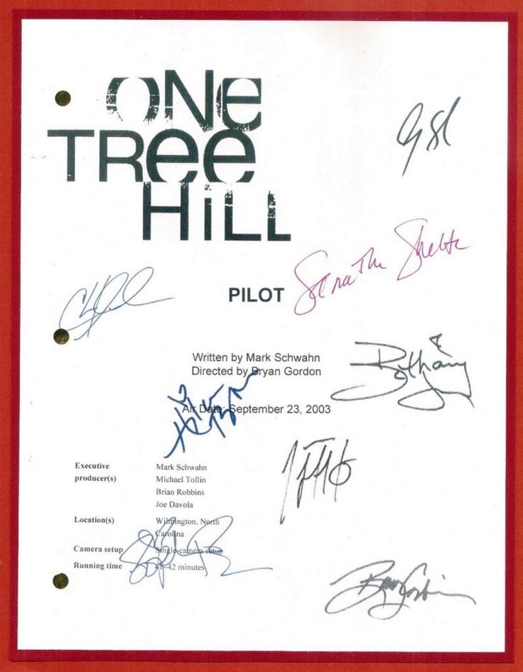 ONE TREE HILL SIGNED SCRIPT RPT CHAD MICHAEL MURRAY JAMES LAFFERTY | Entertainment Memorabilia, Television Memorabilia, Scripts | eBay!