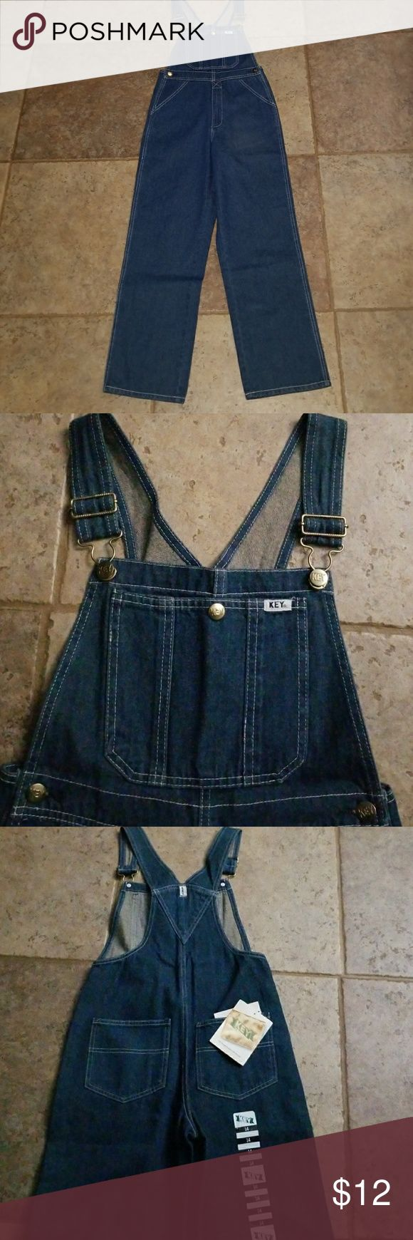 Youth denim bib overalls Unlined denim bib overalls by Key Industry. Youth size 14. New with tags! Key Industry Bottoms Overalls