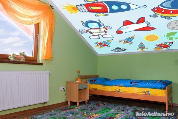 Kit de vinilos infantiles con motivos del espacio