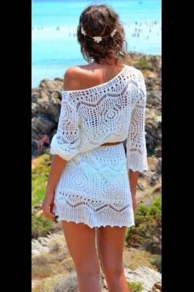 Cute woven dress with belt