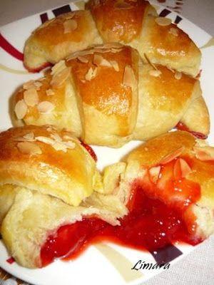 Limara péksége: Dán vajastészta friss eperlekvárral