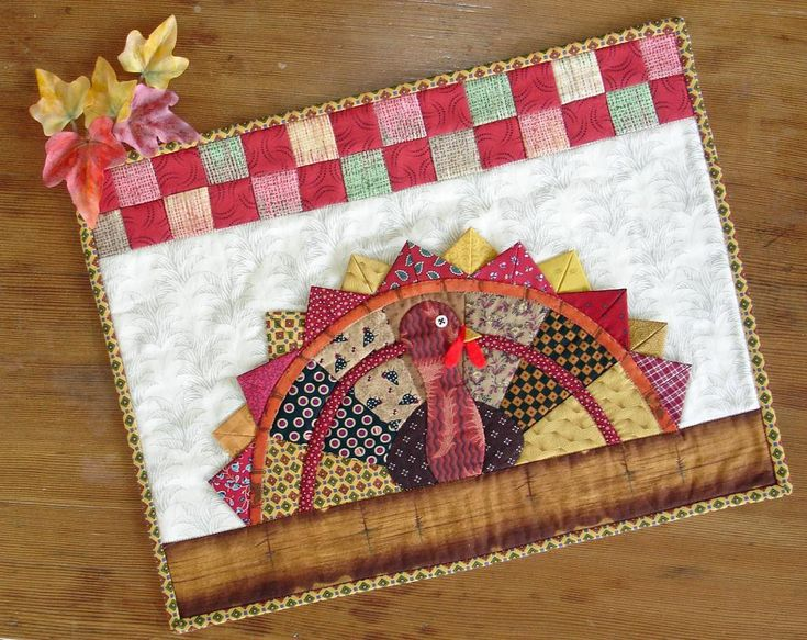 Talkin' Turkey Thanksgiving Placemats – PDF Pattern A Thanksgiving pattern to sew from Jo-Lydia's Attic Designs