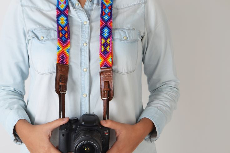 www.mexicancoolture.com Camera strap made by Tzotzil artisans. #mexicancoolture #handmade #photographers #art #colors