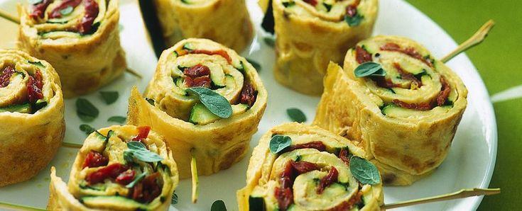 rotoli-di-frittata-con-zucchine ricetta
