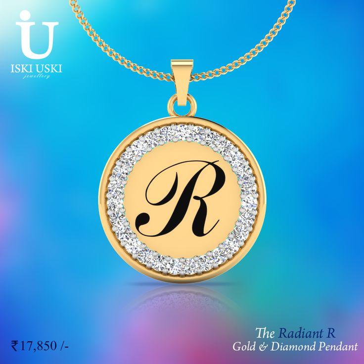 Choose from a wide range of pendants, The Radiant R Gold and Diamond: something for every occasion!!#Pendants #DiamondPendants #IskiUski #PersonalisedPendants
