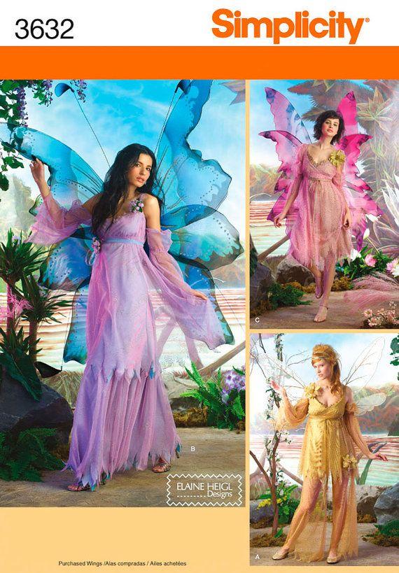 Simplicity 3632 Three Women's Fairy Costumes in by MaggiesEmporium, $3.00