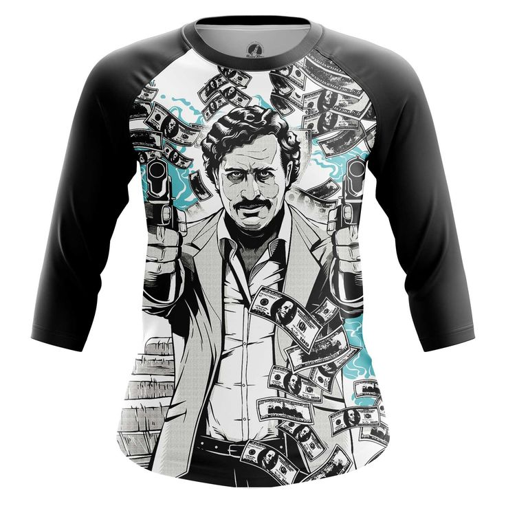 Awesome Womens Raglan Pablo Escobar People  – Search tags:  #contemporary #funtshirts #girlsclothes #girlsraglan #girlstshirts #internetmemesmerchandise #internetmemesshirts #internetmemestshirt #joketshirtsInternetart #raglantshirtfemale