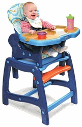 Envee Baby High Chair Converts to a Toddler Play Table & Chair by Badger Basket