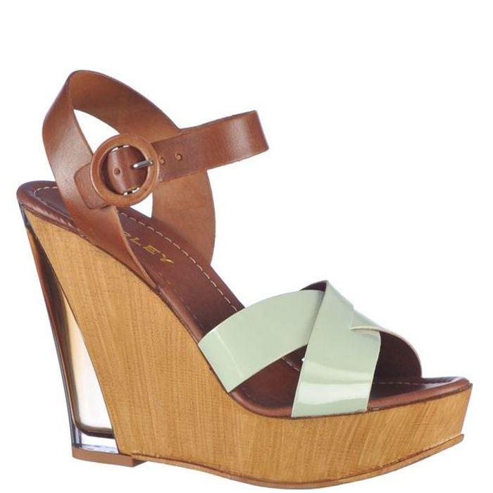 Sandale cu platforma,pentru femei marca Thurley Fete: piele naturala Interior: piele naturala Talpa: lemn Platforma fata: 3,5 cm Platforma spate: 12,5 cm