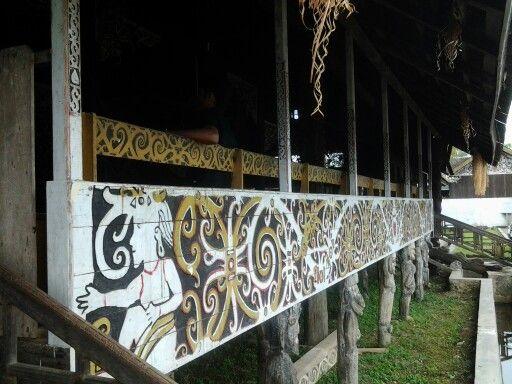 Rumah adat Lamin, Samarinda, East Kalimantan.