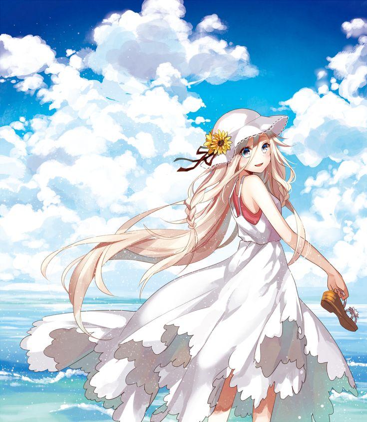 Ia vocaloid anime illustration pinterest - Beach anime girl ...