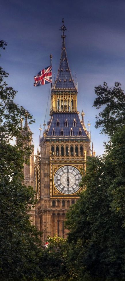 Elizabeth Tower with Big Ben ~ London, England