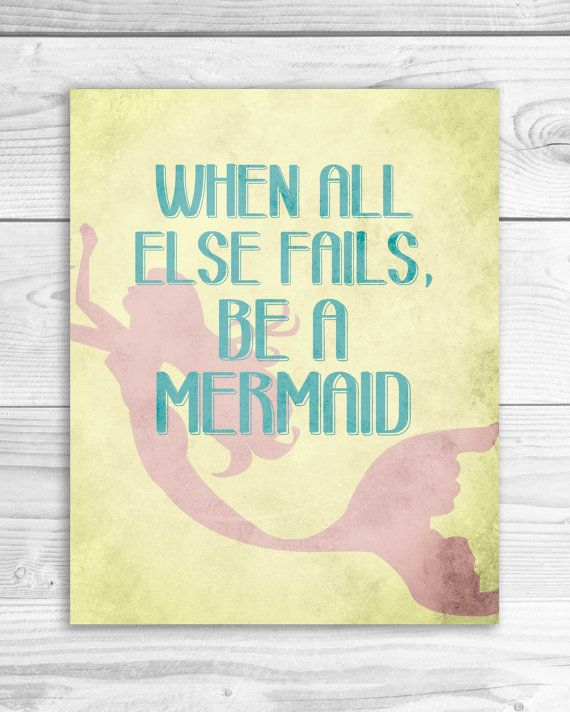 Mermaid Art Print Mermaid quote Mermaid by SmartyPantsStudio, $16.00