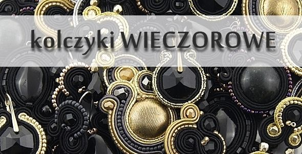 earrings evening soutache by Kavrila  #sutasz #soutache #black #gold #silver #kavrila