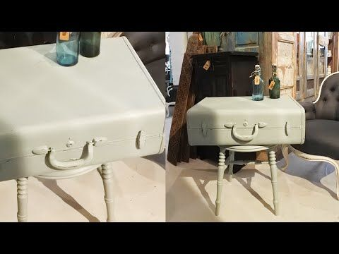Måla över en lackad möbel med milkpaint - Repaint a lacquered furniture with milk paint! - YouTube