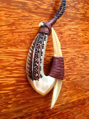 Trochus Shell Hook by Beau Rasmussen