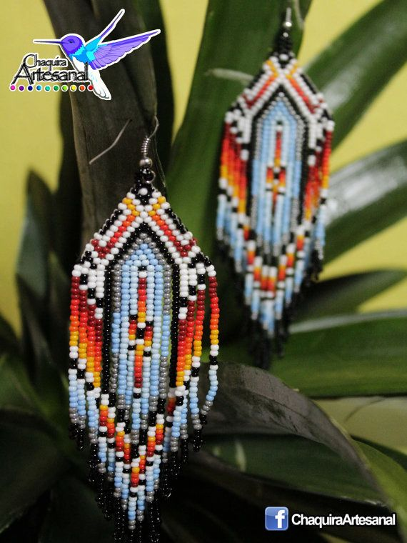 Aretes nativo americano Earring native por ChaquiraArtesanal