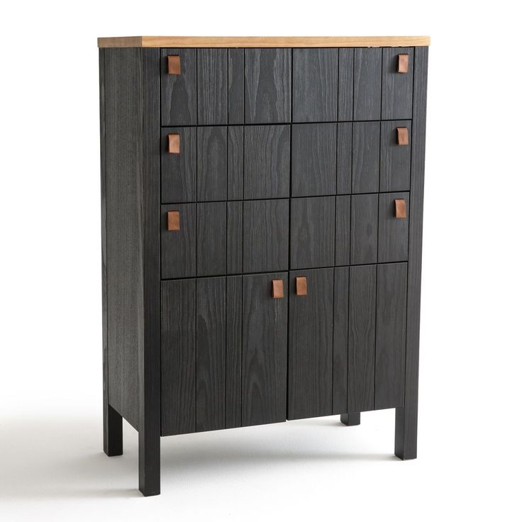 Bahut,2 portes, 6 tiroirs Cedak noir La Redoute Interieurs pas cher prix Buffet La Redoute 749.00 €