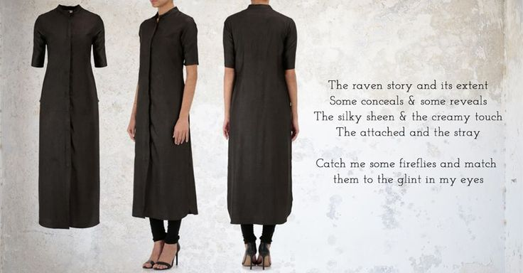 A silk viscose kurta, this has that subtle elated sheen. This long pristine piece with rounded hem and elbow sleeves is your perfect pick for all the formal dos. Wear it buttoned up or down; this is a classic which will never bore you. Buy now: http://www.exclusively.com/product/black-tunic-with-band-collar-and-button-detail-m-ana29oct156dbk-aana