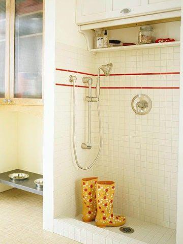 Mud Room - shower portion.