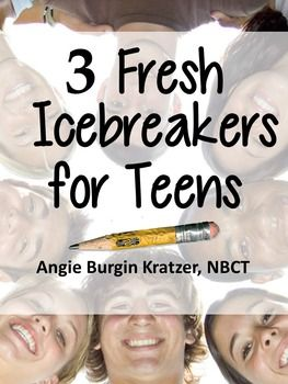 These three icebreakers are perfect for teens who may be tired of the same ole routine on the first day of school, at the first club meeting, at freshman orientation, or at an initial youth group gathering. Impossible Scavenger Hunt: Includes instructions, suggestions for variations, and a one-page scavenger hunt.Abstract Art Personality Groups: Includes instructions and six mini posters.Ink Blot Gallery Walk: Includes instructions, a handout, and six mini posters. $