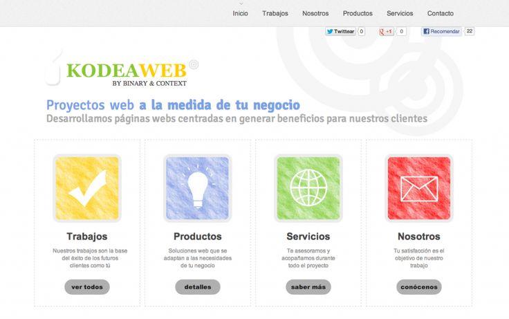 www.kodeaweb.com nueva marca de Proyectos Web by Binary & Context