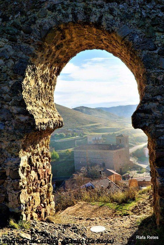 At the Castillo de Clavijo in Spain.