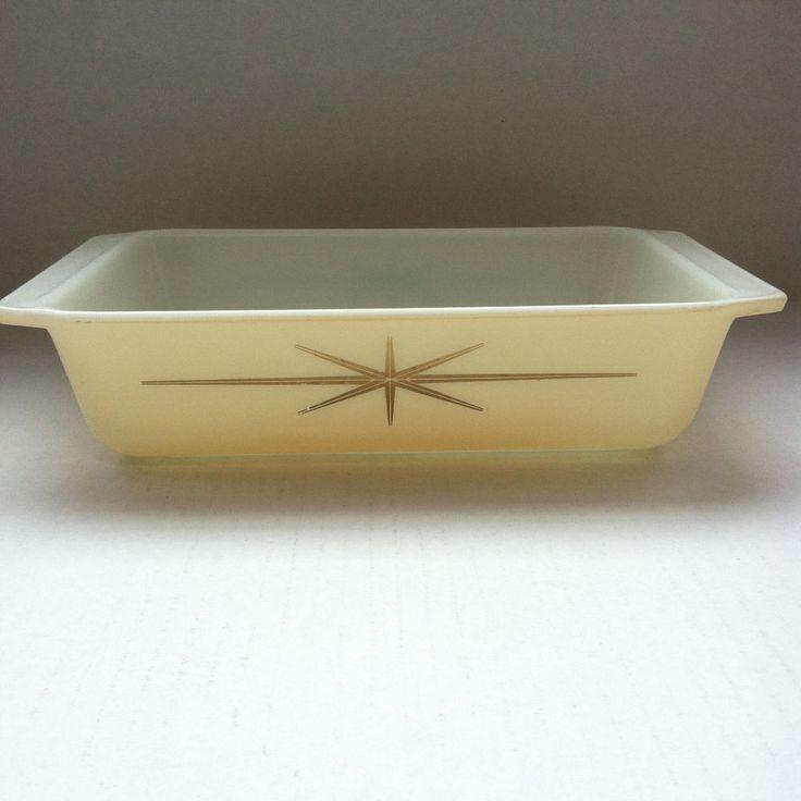 Rare Vintage Pyrex Peach Starburst 575 Space Saver Casserole Dish #Pyrex
