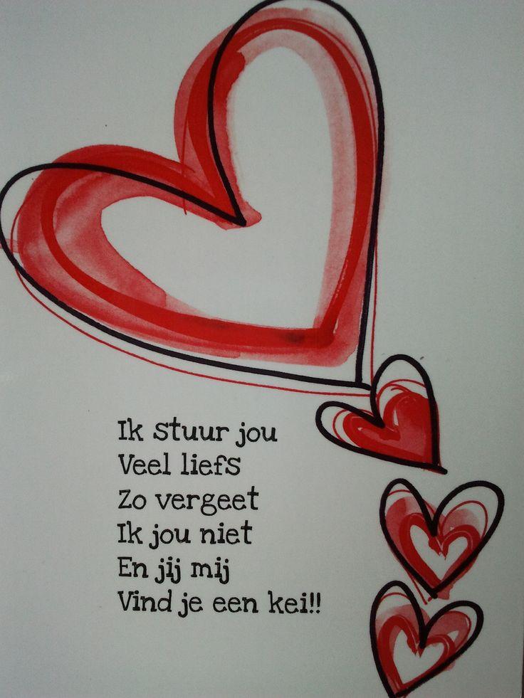 10 augustus 2013. Een vriendin stuurde me deze lieve hartjeskaart om me een hart onder de riem te steken voor de 'moeilijke dagen', die eraan komen. Doet me goed. Echt een #lichtpuntje!