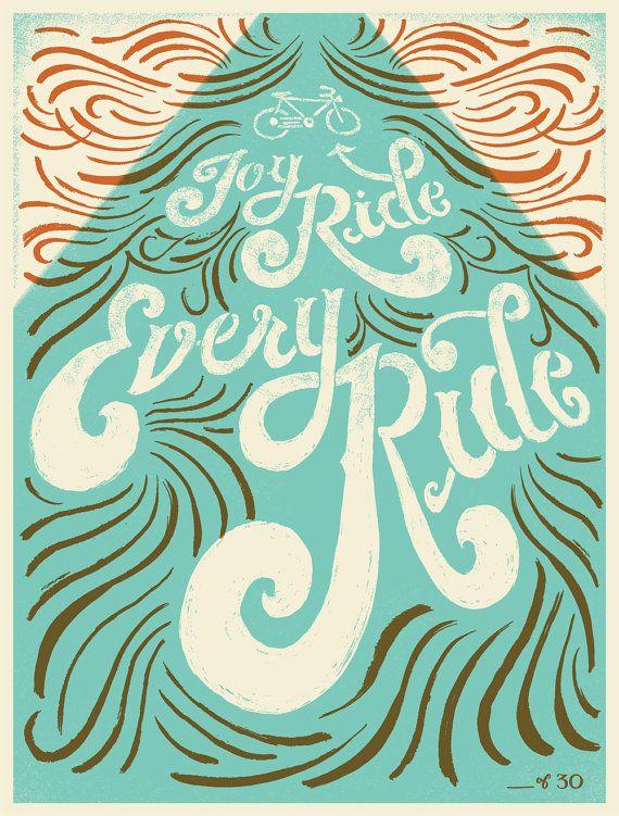 Joy Ride Every Ride  Limited Edition by MaryKateMcDevitt on Etsy