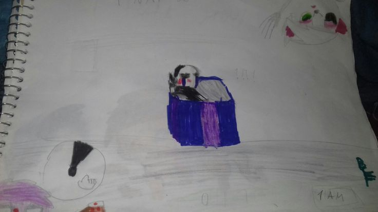 FNAF Marionete and Mangle and Purple Guy