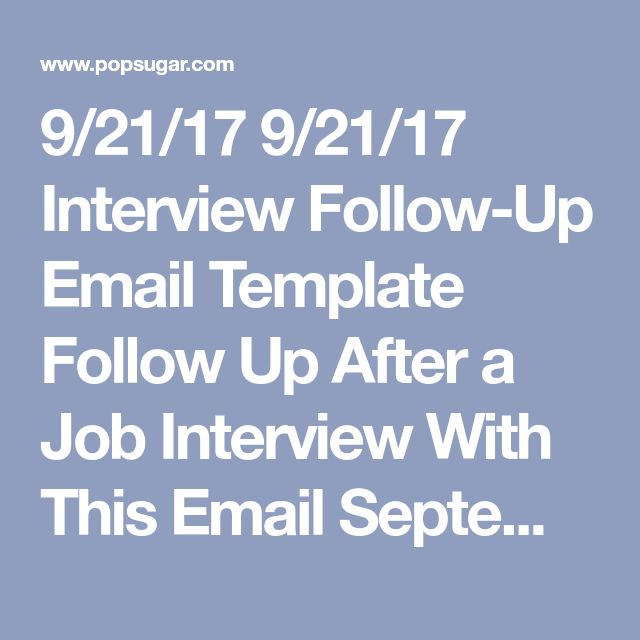 Más de 25 ideas increíbles sobre Important days in september en - follow up email after interview template