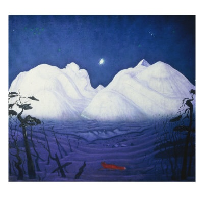 Harald Sohlberg: A Winter Night in the Mountains, 61 x 61 cm, £48.99