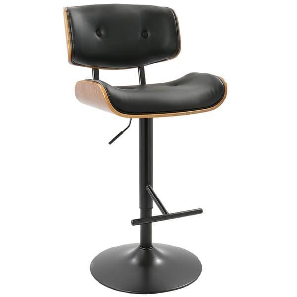 Carson Carrington Nybro Mid-Century Modern Adjustable Bar Stool - Free Shipping Today - Overstock.com - 20757469