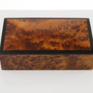 Boite à bijoux en bois de Thuya rectangulaire 20x12x5.5