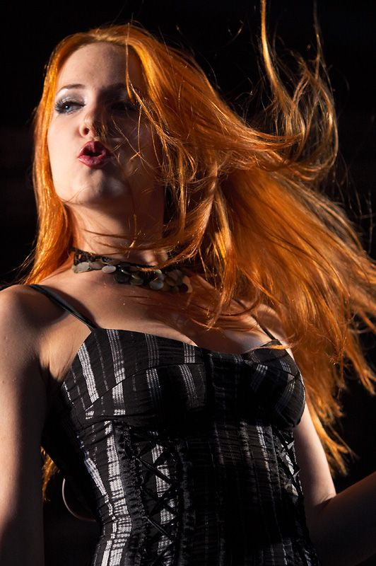 Simone Simons  singer of Dutch symphonic metal band EPICA