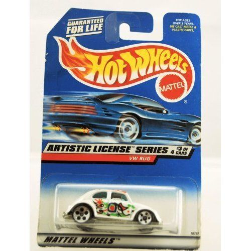 Hot Wheels 1997 Artistic License Series VW BUG 3/4 #731 1:64 Scale by Mattel. $2.00. Limited Edition. 3 of 4 - Collector #731. VW Bug (Volkswagen). Hot Wheels. Artistic License Series. 1997 - Hot Wheels - Artistic License Series - VW Bug - White with Splatter paint job - 3 of 4 - #731 - Limited Edition - Mint in Package - Collectible