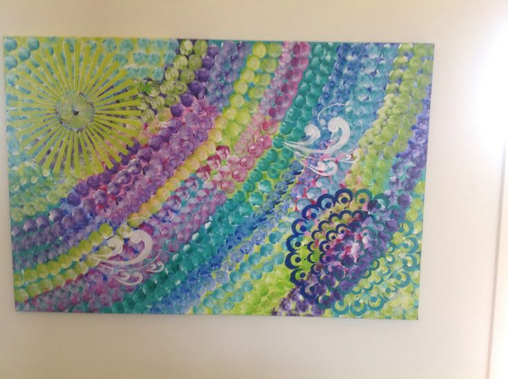 "Intuitive Abstract Acrylic on canvas  ""Sun & Sea at Noosa"""