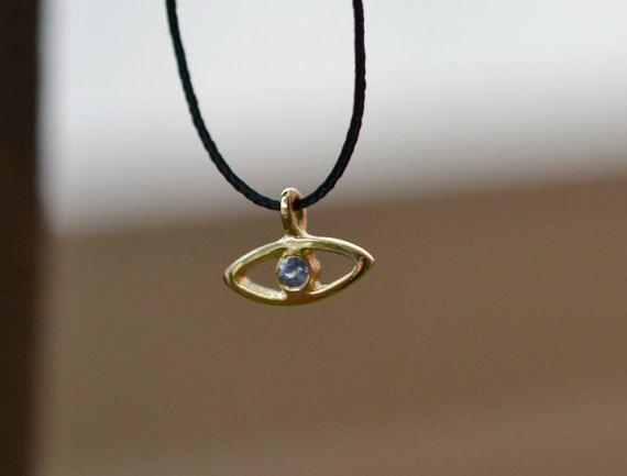 Blue Sapphire Talisman Pendant Handmade by ViazisJewelry on Etsy