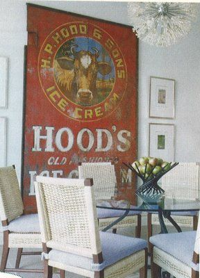 I love decorating with old signs and this one is fabulous!