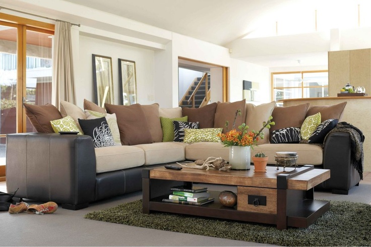 York 5 seater corner lounge suite from harvey norman new for Home sweet home sofa