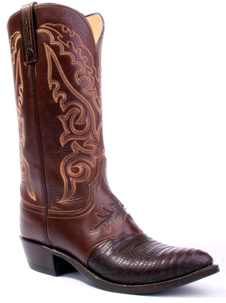 mens lucchese boots | Mens Lucchese Lizard Boots Cigar #N1009