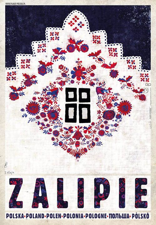 Zalipie, Viallage of Flowers, Polish Promotion Poster by Ryszard Kaja