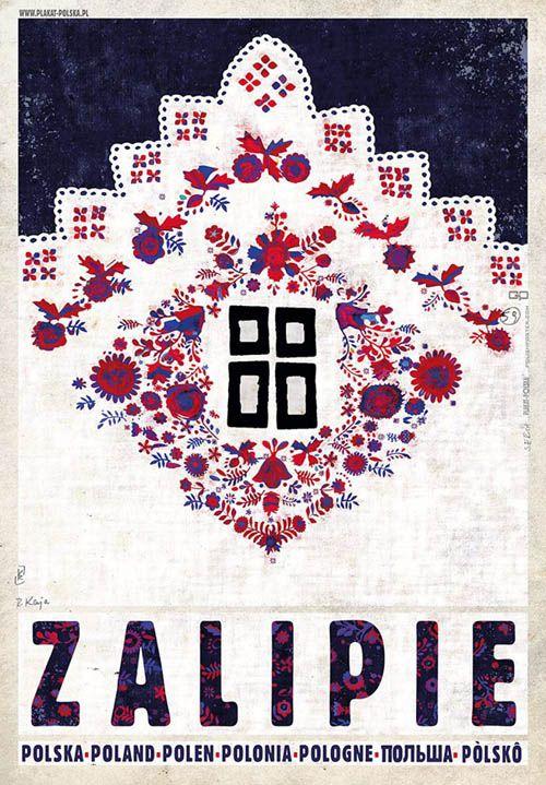 Zalipie, Viallage of Flowers, Polish Promotion Poster