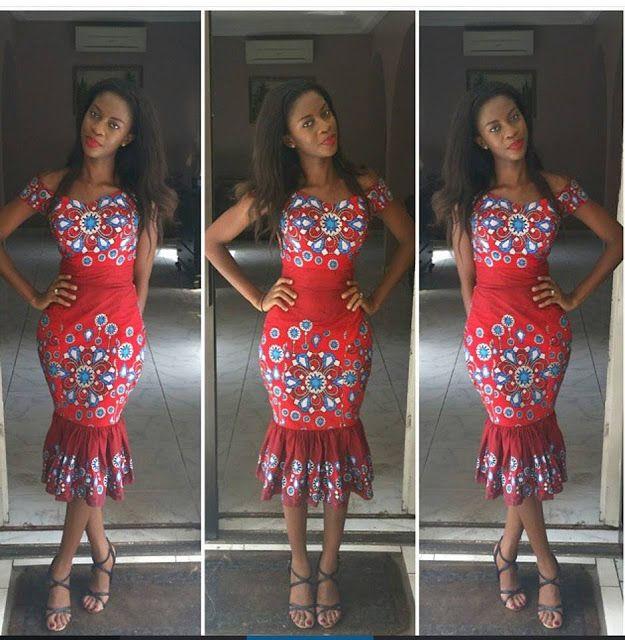 Beautiful Ankara Gown Design http://www.dezangozone.com/2015/07/beautiful-ankara-gown-design.html ~African fashion, Ankara, kitenge, African women dresses, African prints, African men's fashion, Nigerian style, Ghanaian fashion ~DKK