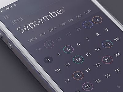 Sidebar calendar animation